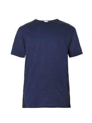Contrast-panel crew-neck T-shirt