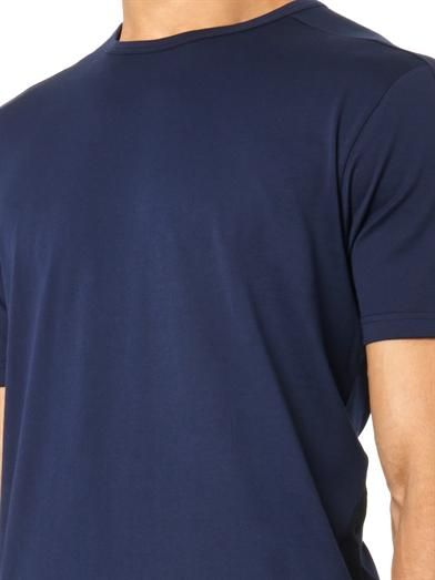 Sunspel Contrast-panel crew-neck T-shirt