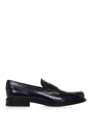 Leather penny loafers