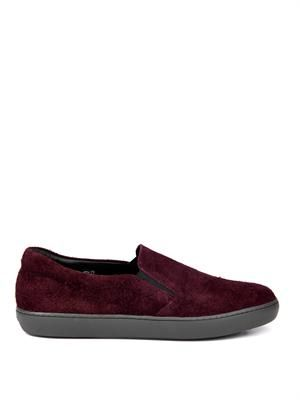 Brushed suede slip-on trainers
