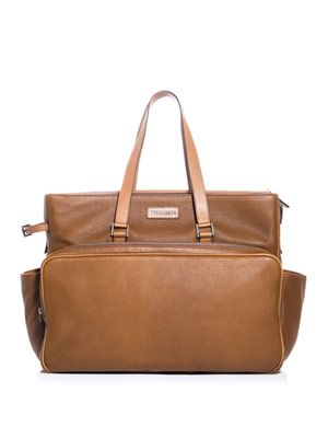 Leather over-night holdall