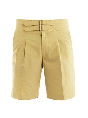 Double-strap cotton shorts