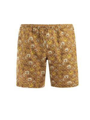 Holiday print shorts