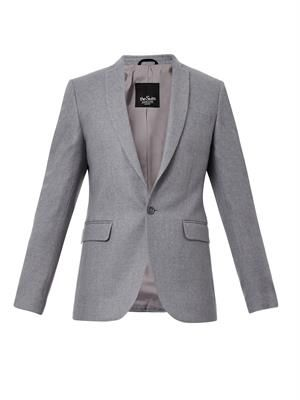 Skinny-fit wool-blend jacket