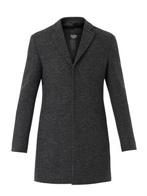 Salt and pepper-weave tailored coat