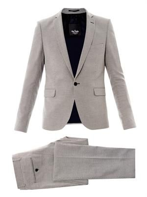 Skinny-fit one-button suit