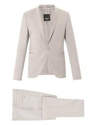 Skinny-fit one-button tuxedo suit
