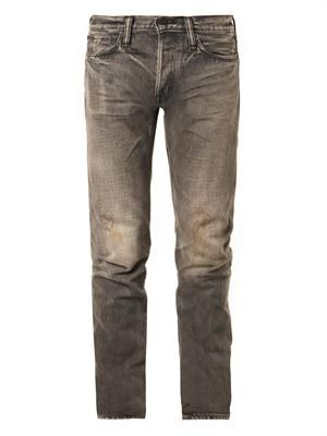 Slim tapered-leg jeans