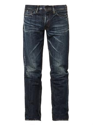 Relaxed tapered-leg jeans