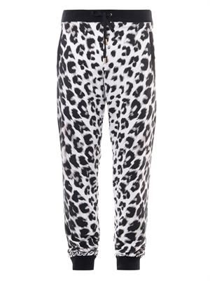 Animal-print sweatpants