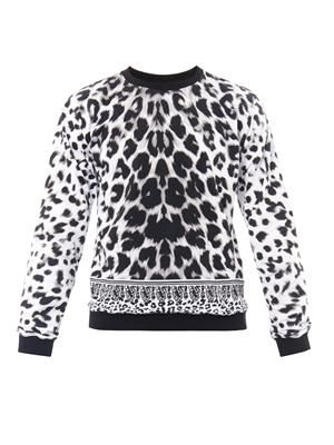 Animal-print sweatshirt
