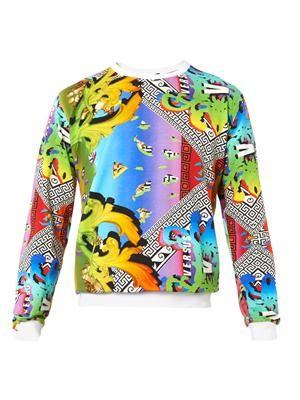 Rainbow and logo-print sweatshirt