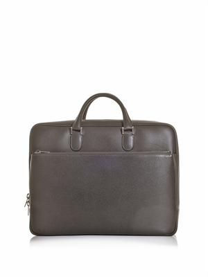 Zip around leather briefcase