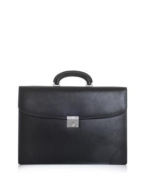 Two gusset leather briefcase