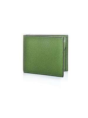 Two-fold leather wallet