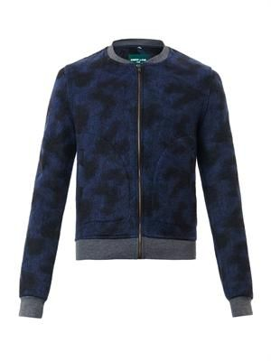 Gstaad leopard-print bomber jacket