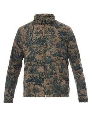 Jungle-print hooded jacket