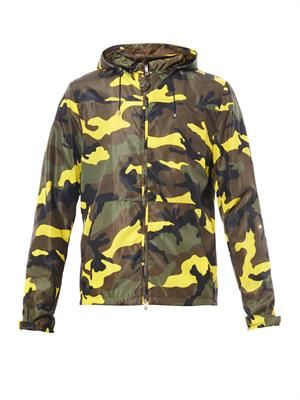 Pop camo-print hooded jacket