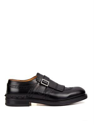 Monk-strap fringed brogues