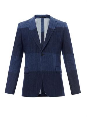 Notch-lapel denim blazer