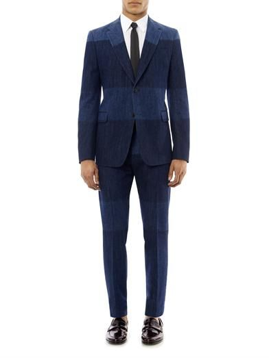 Valentino Notch-lapel denim blazer