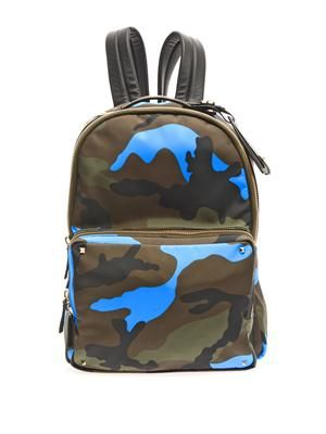 Fluro Pop camouflage backpack