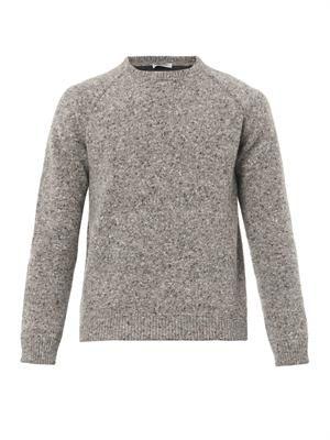 Salt and pepper-knit sweater