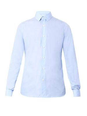 Double-cuff cotton shirt