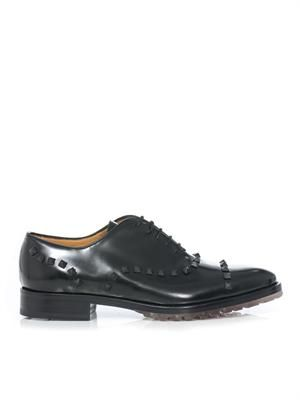 Studded lace-up derby shoes