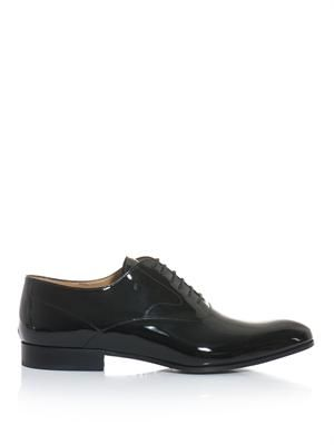 High shine lace up derby shoe