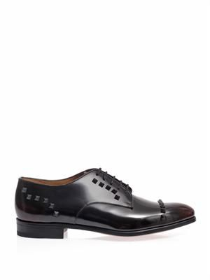 Studded lace-up oxford shoes