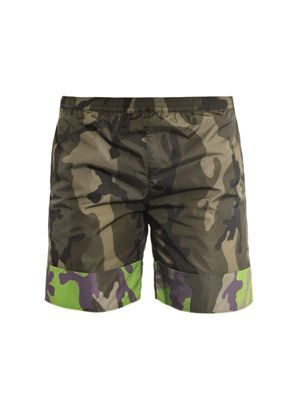 Board camo swim shorts