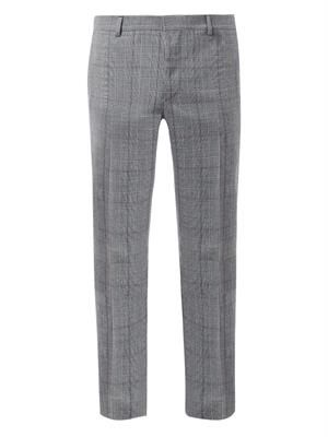 Prince of Wales-check tailored trousers