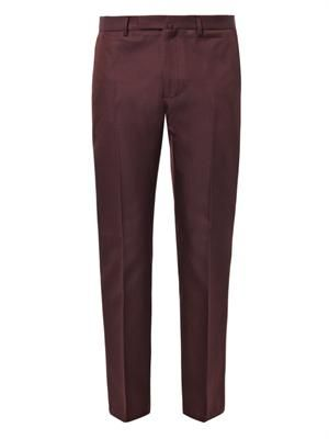 VALENTINO Wool and silk-blend tailored trousers