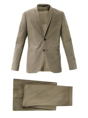 Single-breasted cotton suit