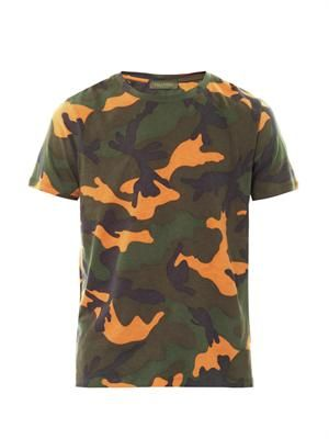 Camouflage-print cotton T-shirt