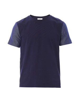 Denim and cotton T-shirt