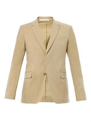Stretch-cotton tailored jacket