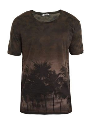 Hawaiian print T-shirt