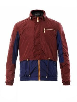 Bi-colour nylon jacket