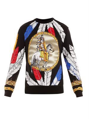 Native American-print sweatshirt