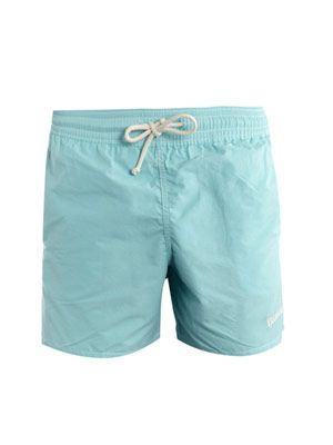 Vintage solid swim-shorts