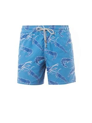 Moorea shrimp-print swim shorts