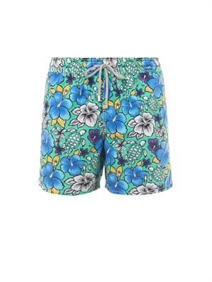 Moorea Hawaiian-print swim shorts