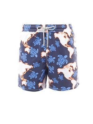 Moorea world map-print swim shorts