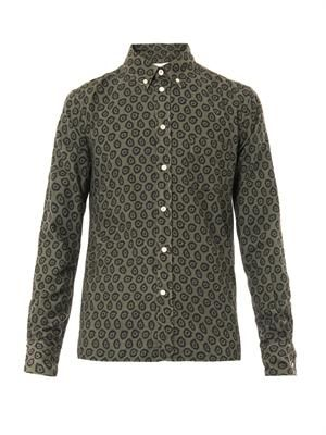Flying Spark-print cotton shirt