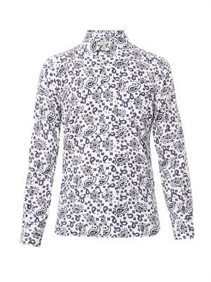 Paisley-print cotton shirt