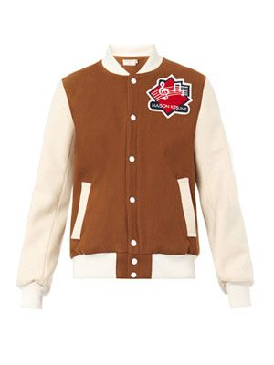 Music varsity bomber jacket