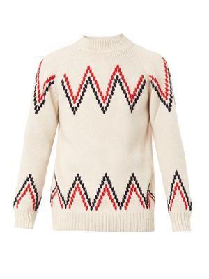 Zigzag alpaca sweater