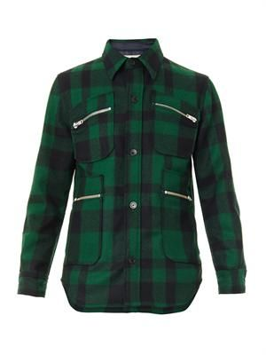 Checked melton-wool jacket